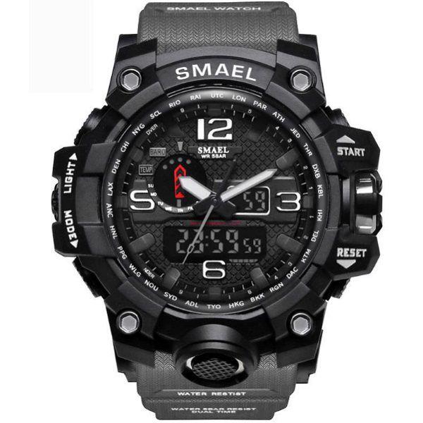 Relógio Esportivo Militar Shock Smael 1545 + Estojo  - Casafaz
