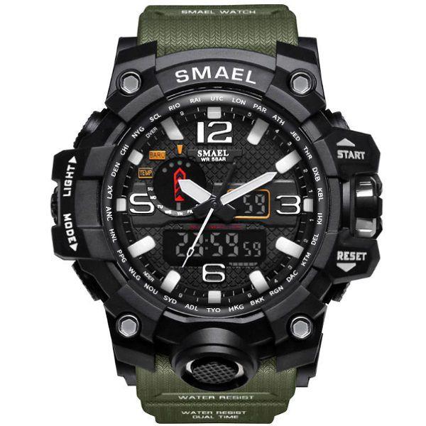 Relógio Esportivo Militar Shock Smael 1545 + Estojo