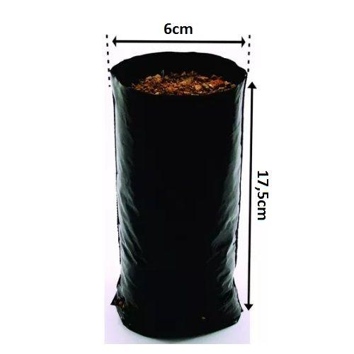 Saco Saquinho Plástico Para Mudas 10 X 20  2000 Unidades  - Casafaz