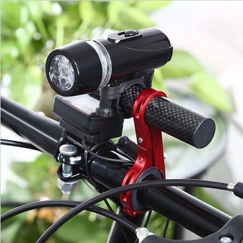 Suporte Extensor Guidão 10,2cm Deemount Bike Vermelho  - Casafaz