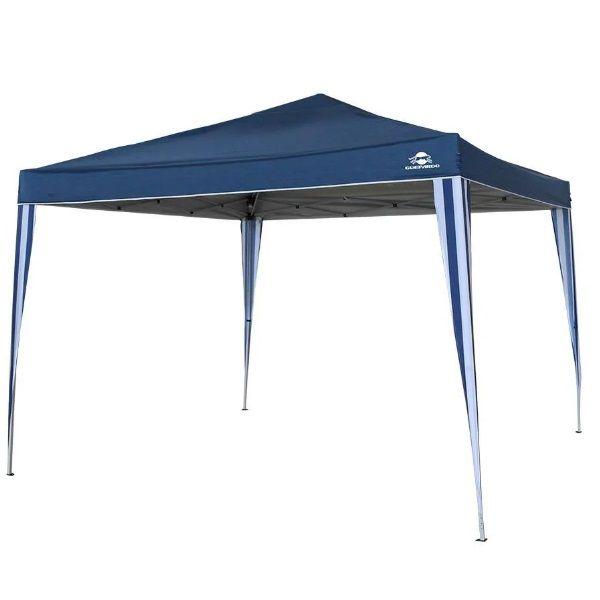 Tenda Gazebo Articulado Pratiko 3m x 3m Proteção solar UV 60+ Coluna D'água 1000mm Guepardo   - Casafaz