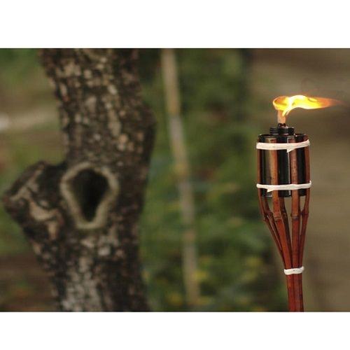 Tocha Para Iluminação Decoração Festa 90cm De Bambu TX-90 Western  - Casafaz