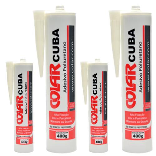 Cola Cuba Adesivo Poliuretano para Colagem de Cubas 400gr - Colar   - COLAR