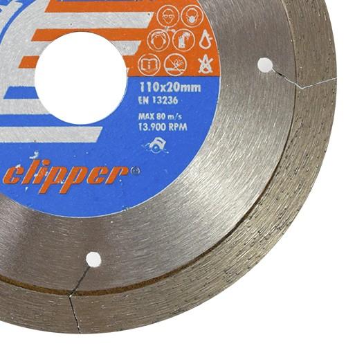 Disco Para Serra Mármore Porcelanato Clipper 110mm - Norton  - COLAR