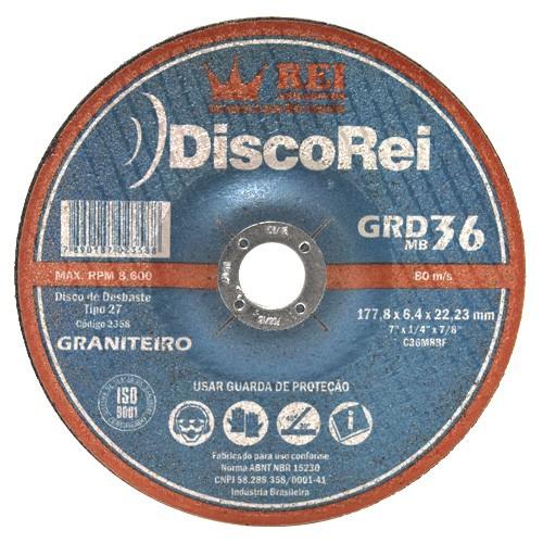 Disco De Desbaste Graniteiro 180mm - Rei  - COLAR
