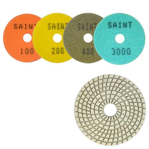 Disco de Polimento Flexível Para Marmoglass e Nanoglass Saint Branco 100mm - Colar  - COLAR