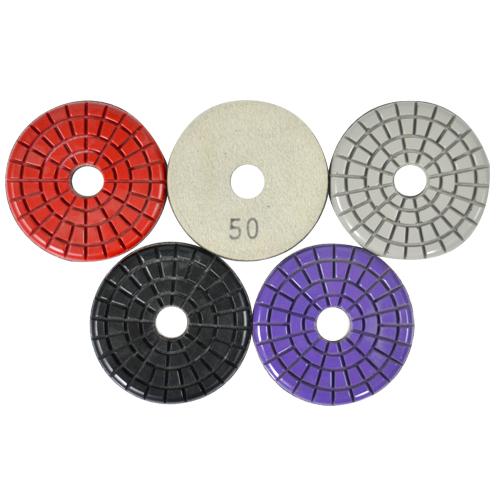 Disco de Polimento Rígido Para Mármores e Pedras Ornamentais Triple Trick 75mm - Colar  - COLAR