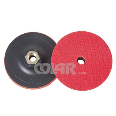 """Suporte De Lixa Com Velcro e Espuma 4"""" M14 Vermelho - DM  - COLAR"""