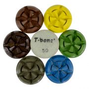 Disco de Polimento Rígido Para Concreto e Pedras Ornamentais T-Bone 85mm - Colar