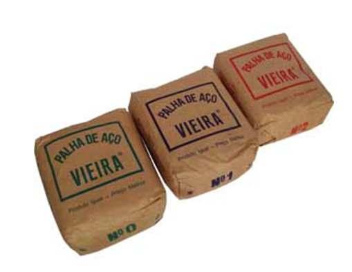 Palha De Aço Pacote Com 20 unidade N°1 - Vieira  - COLAR