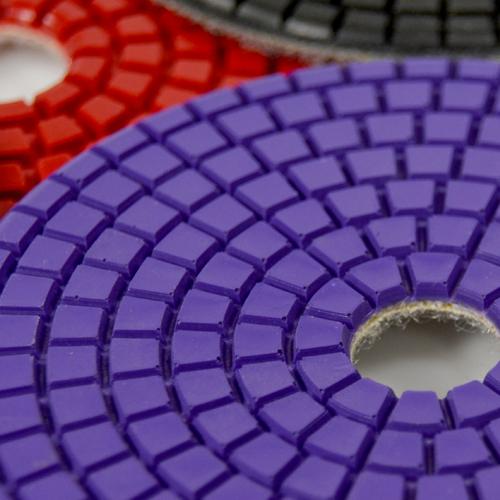 Disco de Polimento Flexível Para Marmoglass MG 100mm - Colar  - COLAR