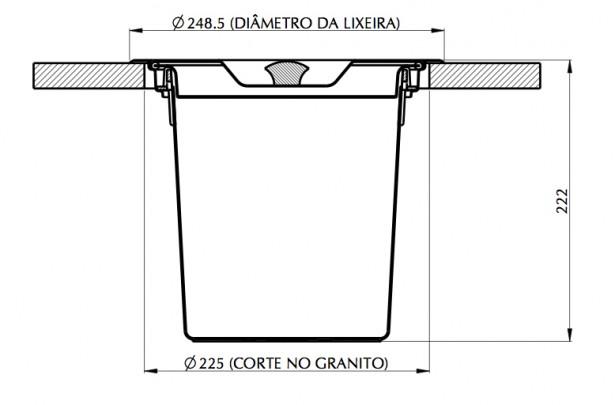 Lixeira Para Granito 5L - Tramontina  - COLAR