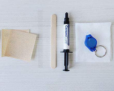 Kit Resina Fotocuravel LCA Branco Para Cerâmica e Porcelana - CeramiCure  - COLAR