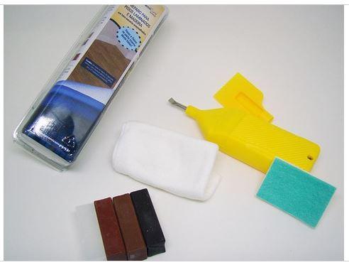 Kit Reparo Para Pisos Laminados Tons Escuros e Avermelhados - CeramiCure  - COLAR