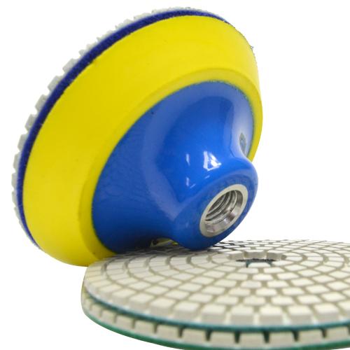 Suporte de Lixa com Velcro e Espuma 100mm - Colar  - COLAR