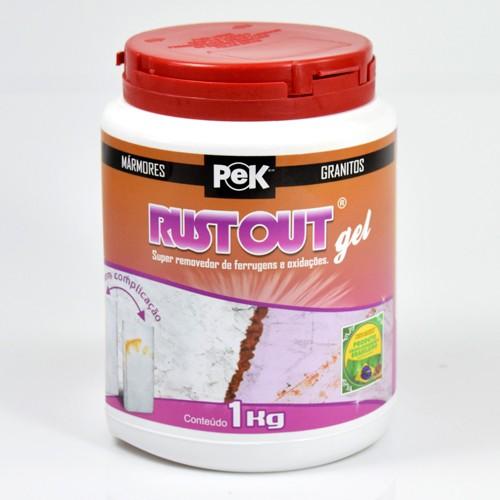 Pek Rust Out Gel 1kg - Super Removedor de Ferrugens e Oxidações  - COLAR