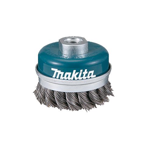 Escova de Aço Tipo Copo Torcido D-24119 60mm M14 - Makita  - COLAR