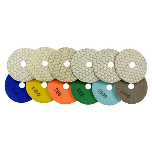 Disco de Polimento Flexível para Mármores e Granitos Dry Flex 100mm - Colar  - COLAR