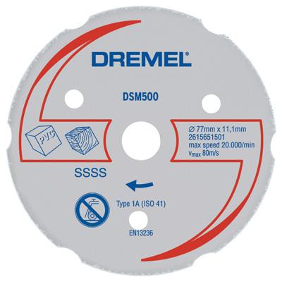 Disco de Corte Para Madeira e Plástico DSM500 - Dremel  - COLAR