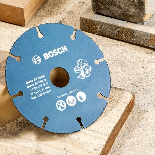 Disco de Serra Mármore Para Madeira 110mm Azul - Bosch  - COLAR