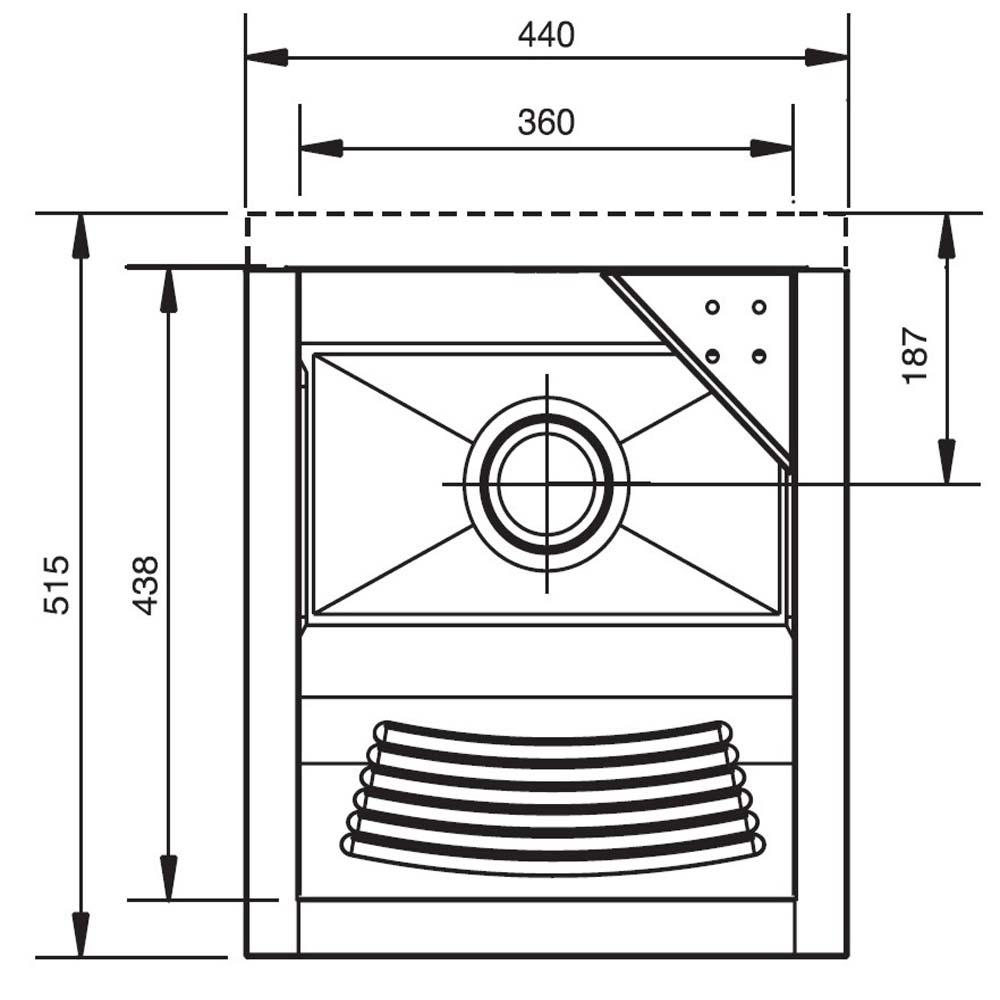Tanque De Aço Inox Encaixe Pequeno 51,5x44x26 - Franke  - COLAR