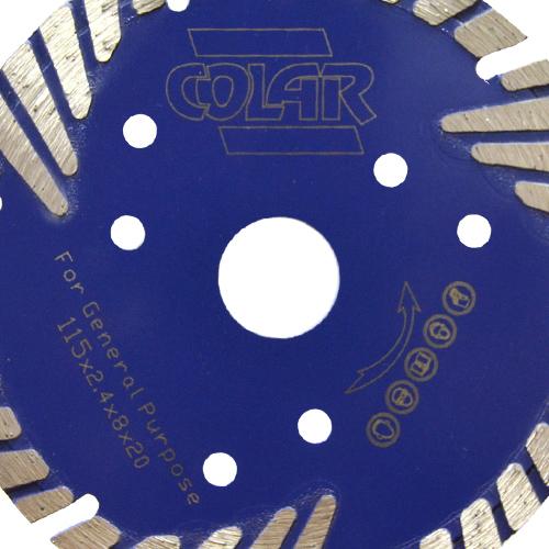 Disco de Serra Mármore  Turbo B Premium 115mm- Colar  - COLAR