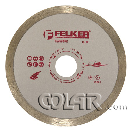 Disco Serra Mármore 110mm Felker Continuo - HSQ  - COLAR