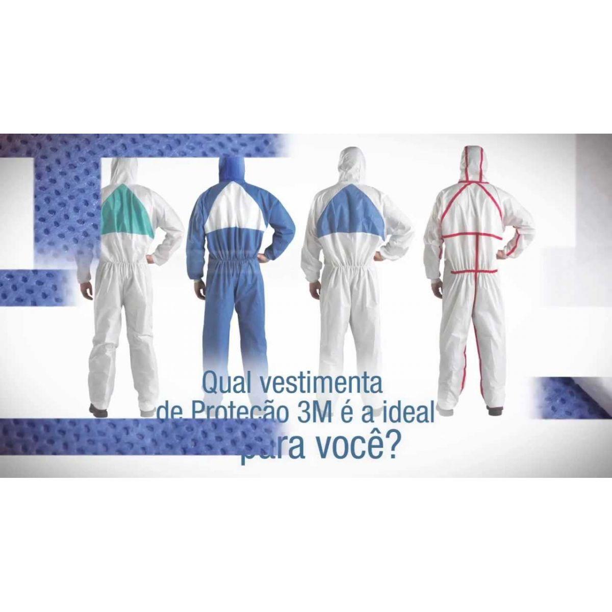 Vestimenta de Proteção 4520 Tamanho G - 3M  - COLAR