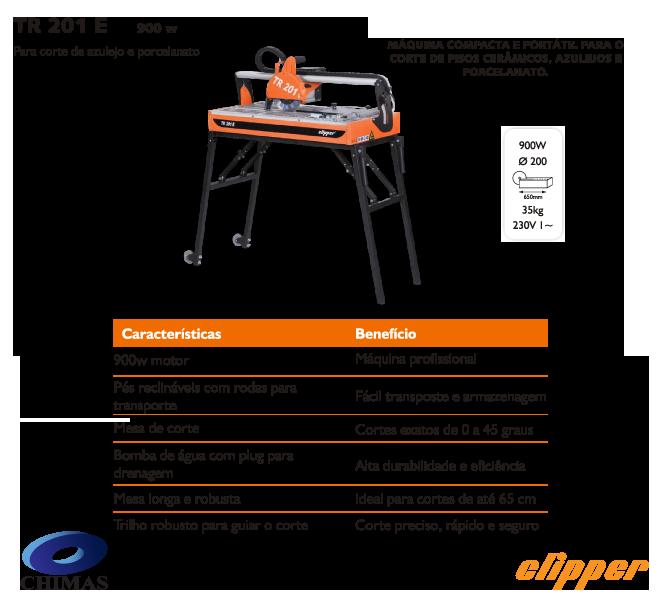 Máquina de Corte Porcelanato TR201E 230V Clipper - Norton  - COLAR