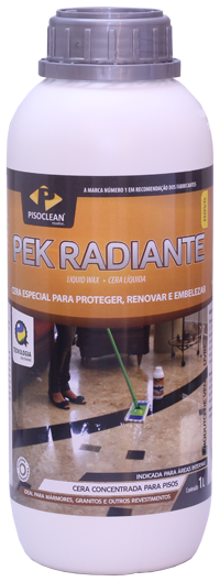 Pek Radiante 5 Litros - Brilho, Proteção e Manutenção de Mármores e Granitos   - COLAR