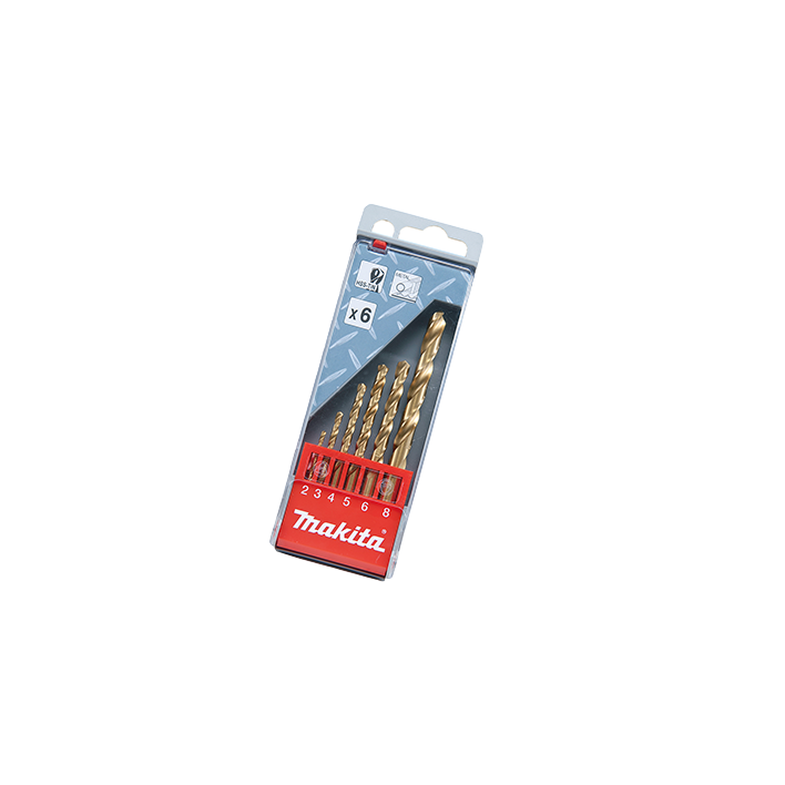 Kit de Brocas 6pçs Furo Metal D43555 - Makita  - COLAR