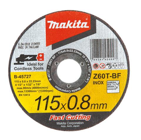 Disco de Corte para aplicação em Inox e Metal B45727 - Makita  - COLAR