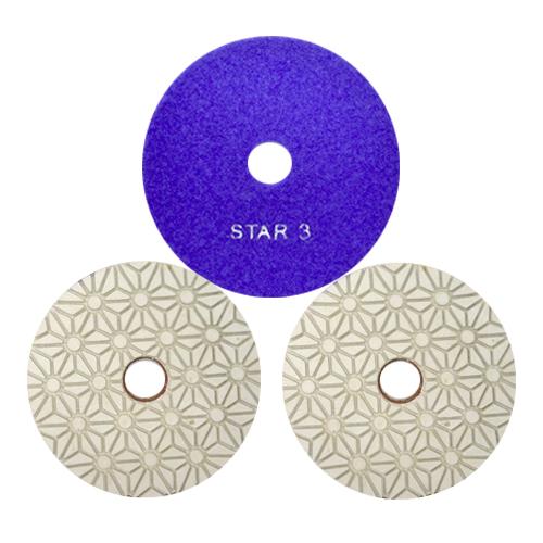 Disco de Polimento Flexível Estágio 1 - 2 - 3 para Granitos 100mm - Colar  - COLAR