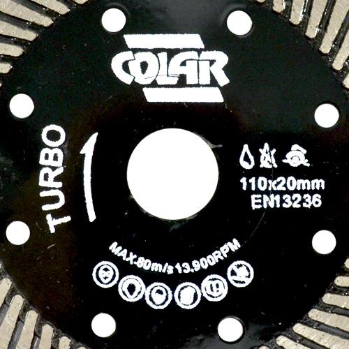 Disco de Corte Turbo Preto  Contínuo Premium 110 x 20mm - Colar  - COLAR