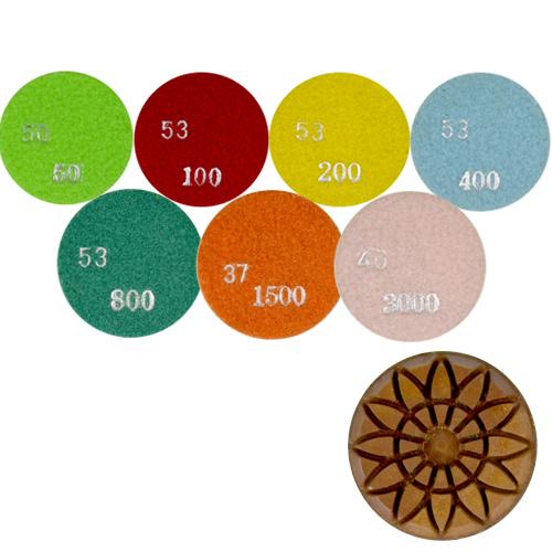 Disco de Polimento Rígido Para Concreto Flower Concrete 80mm - Colar  - COLAR