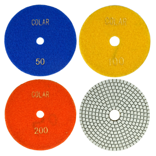 Disco de Polimento Flexível Para Mármores e Granitos Metal-Resina - Colar  - COLAR