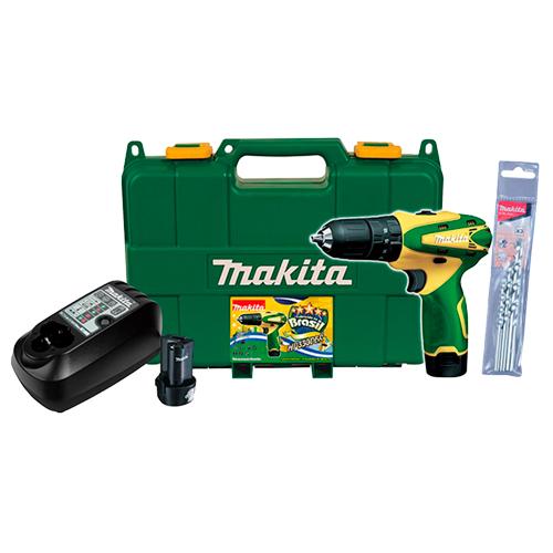 Parafusadeira Furadeira de Impacto 3/8 2 Baterias 12V HP330DBR Makita - Grátis Kit Brocas  - COLAR