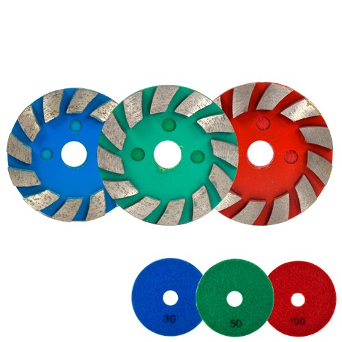 Rebolo Metalico Diam. 100mm Velcro Gr.030, 050 e 100 IT  - COLAR