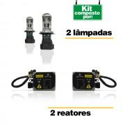 Kit Bi-Xenon H4-3 6000K 8000K + Frete Gr�tis