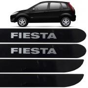 Jogo Friso Lateral Fiesta Rocam 2003 até 2013 Preto Ebony
