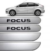 Jogo Friso Lateral Ford Focus 2009 até 2013 Prata Geada