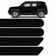 Jogo Friso Lateral Jeep Renegade 2015 2016 2017 Preto Shadow