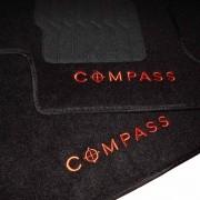 Tapete Carpete Personalizado Logo Bordada Jeep Compass 2016 Em Diante