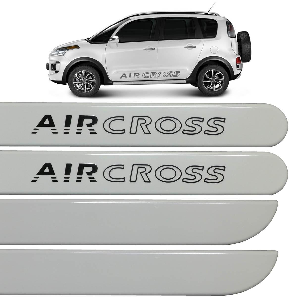 Jogo Friso Lateral Aircross Branco Banquise 2013 até 2016