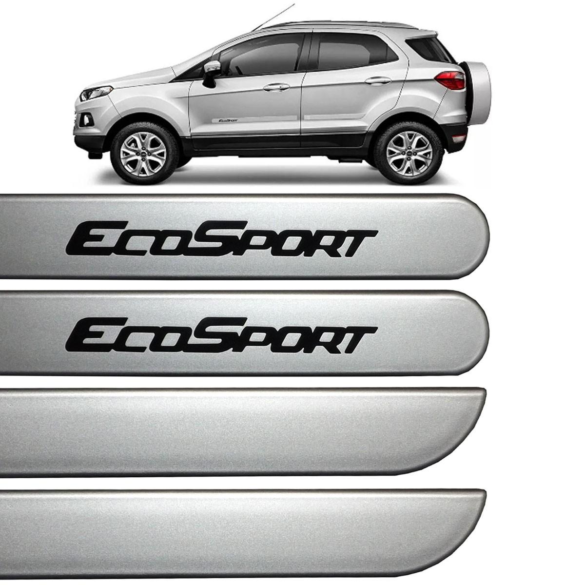 Jogo Friso Lateral Ecosport 2013 até 2016 Prata Dublin