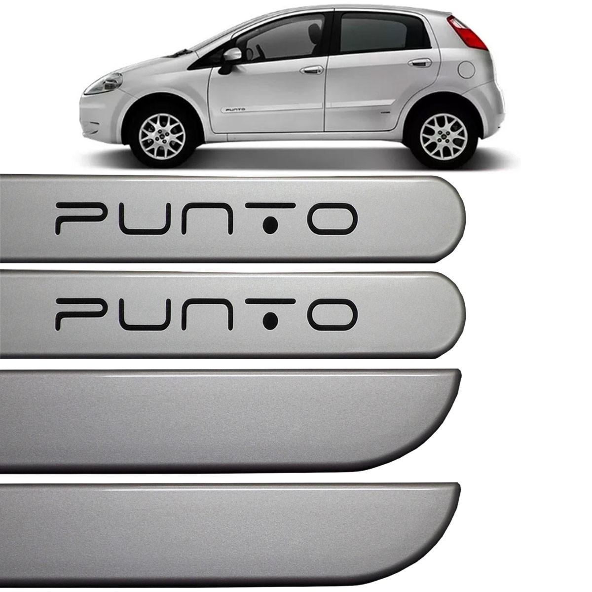 Jogo Friso Lateral Fiat Punto 2013 2014 2015 Prata Bari