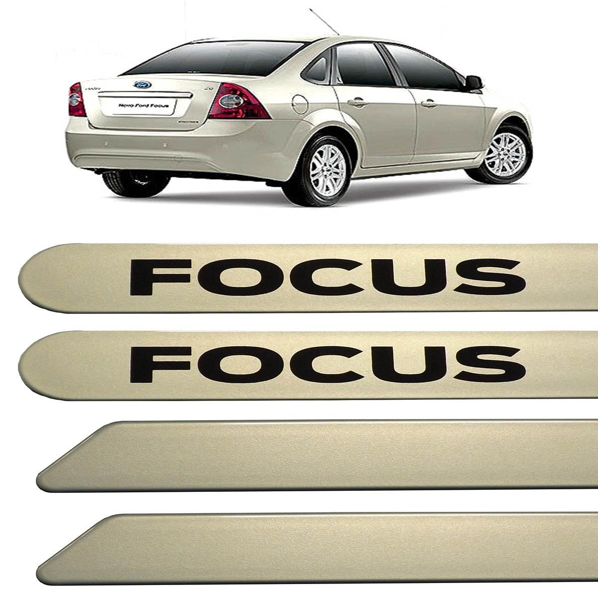 Jogo Friso Lateral Ford Focus 2009 até 2013 Prata Madri