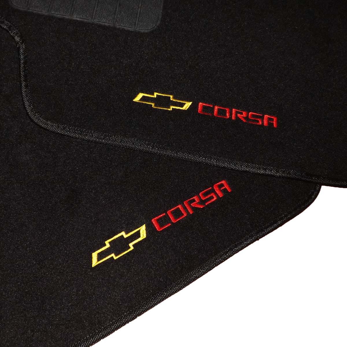 Tapete Carpete Personalizado Logo Bordada Corsa 1994 até 2002