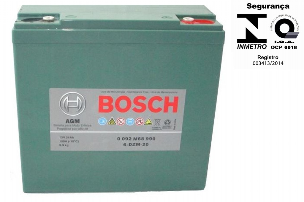 Bateria Bosch Gel 24ah 12v Ciclo Profundo 6-dzm-20 Kit 4 Unidades
