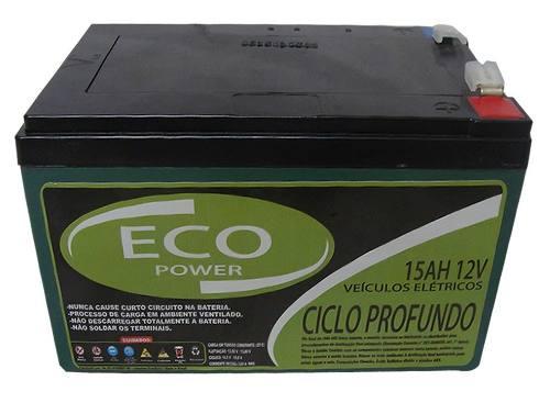 Kit 3un Bateria Gel 15ah 12v Ciclo Profundo